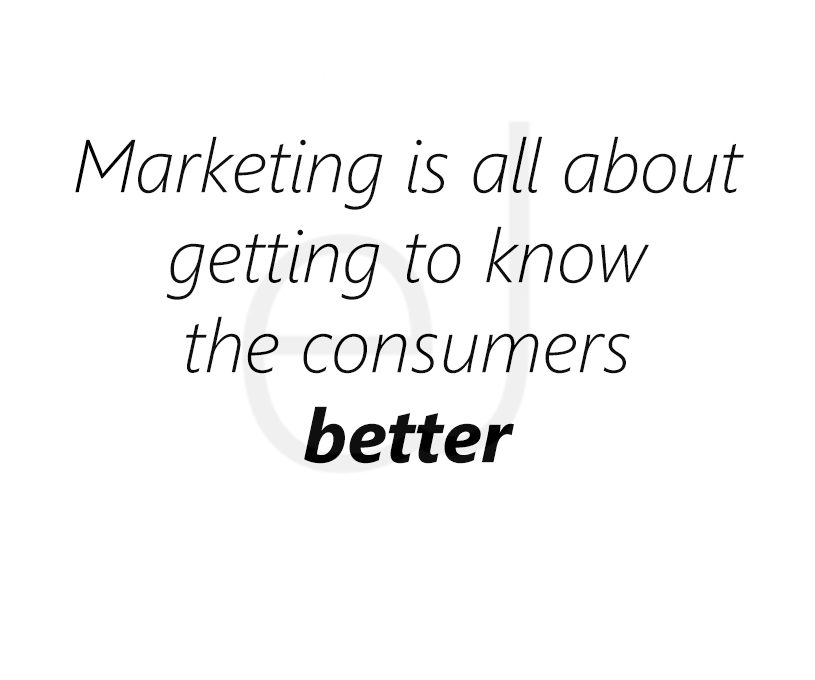Marketing: establishing connection with the consumers